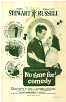 No Time for Comedy 1940 DVD - James Stewart / Rosalind Russell